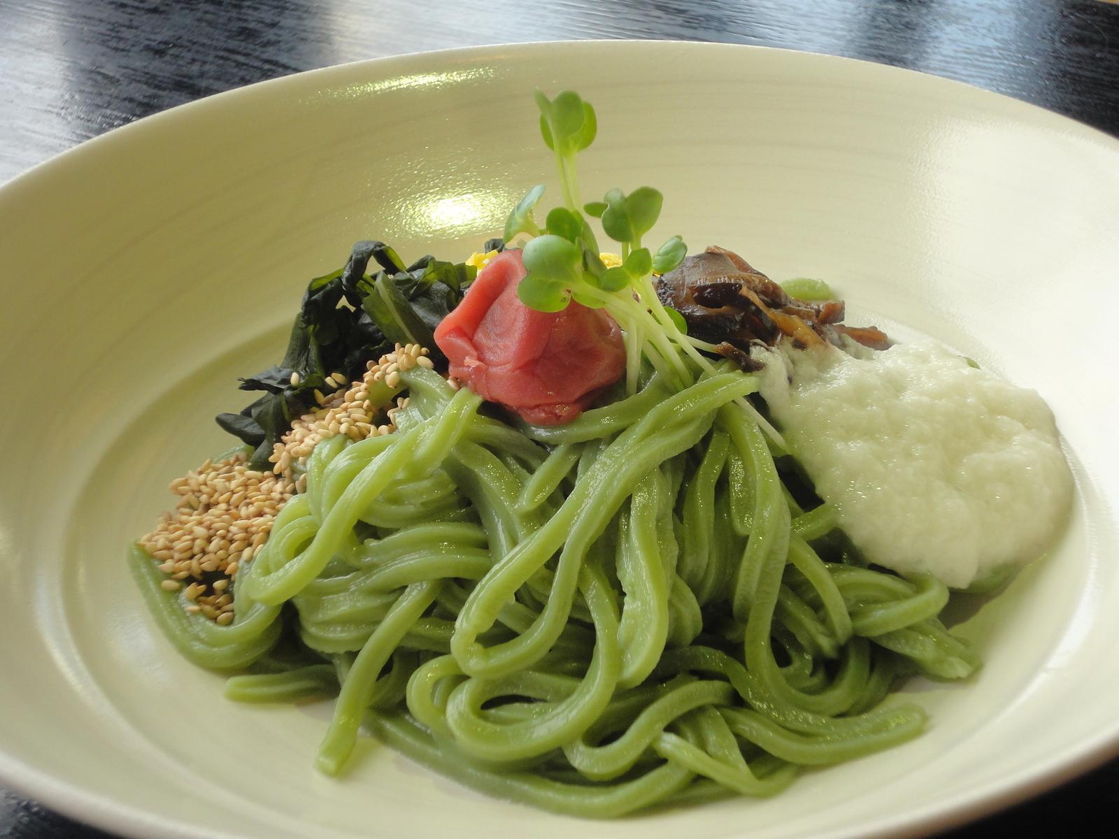 緑茶ほそ麺
